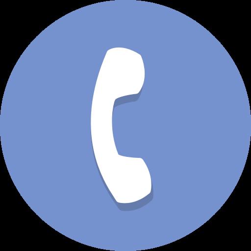 phone icon bleu