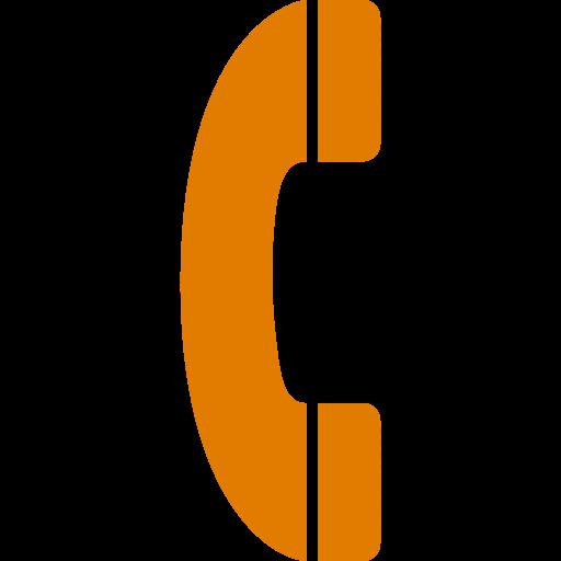 Phone icon orange