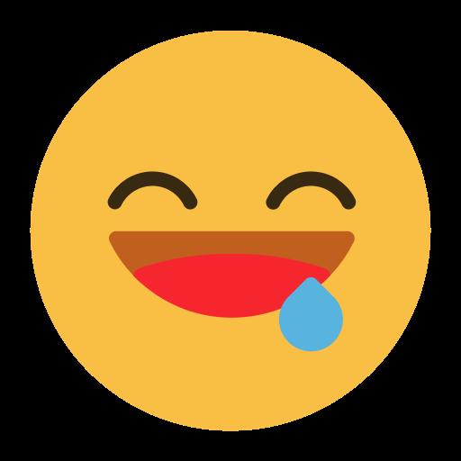 Emoji émoticône symbole affamé