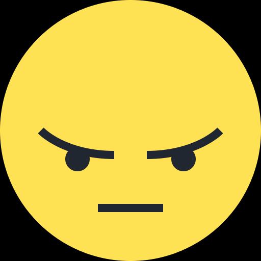 Symbole emoji émoticône en colère