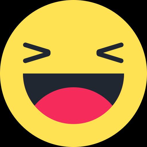 Symbole emoji émoticône rire