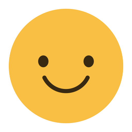 Symbole emoji émoticône souriant
