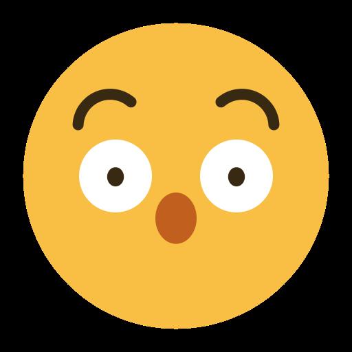 Symbole emoji émoticône surpris