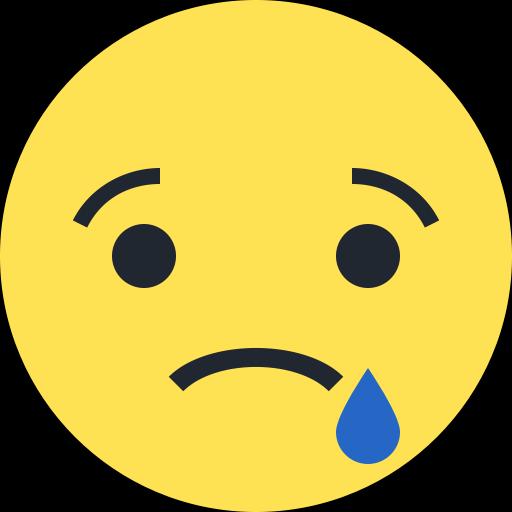 Emoji symbole triste émoticône larme
