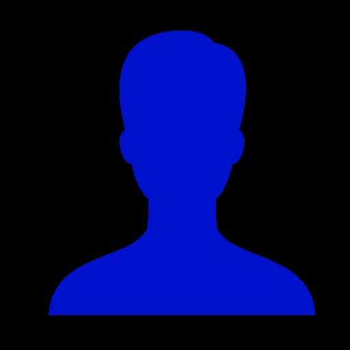 Symbole masculin: icône de l'utilisateur bleu