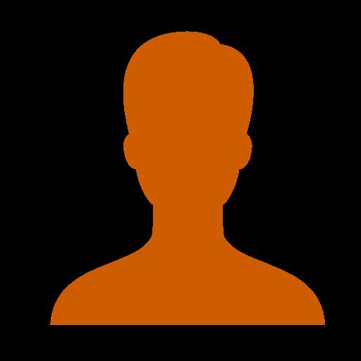 Symbole masculin: icône utilisateur orange