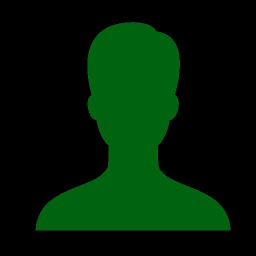 Symbole masculin: icône de l'utilisateur vert