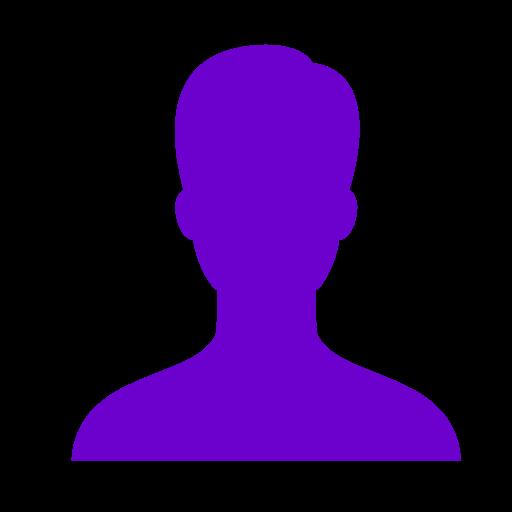Symbole masculin: icône utilisateur violet