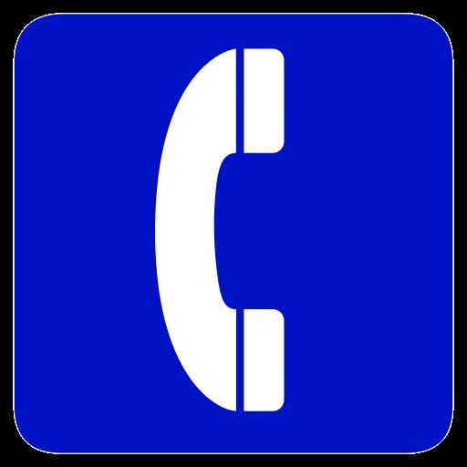 telephone icone bleu