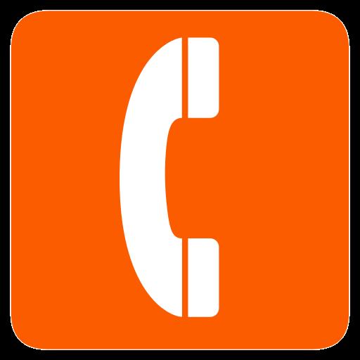 Telephone icon orange