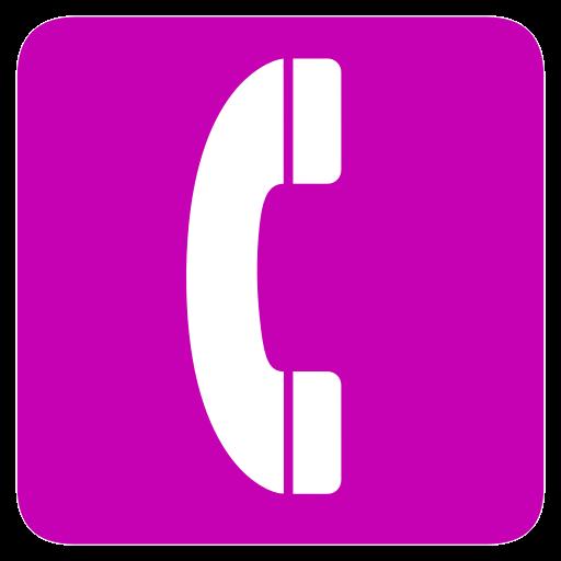Telephone icon rose