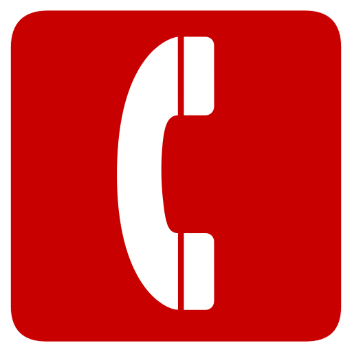 Telephone icon rouge