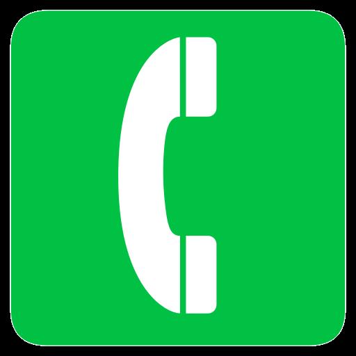 telephone icone vert
