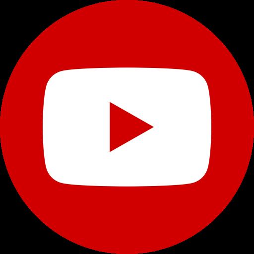 Icône Youtube dans un cercle