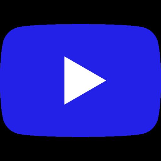 Icône YouTube bleue
