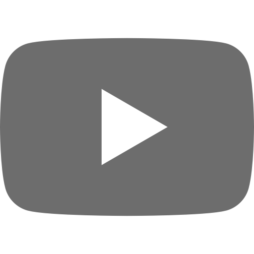 Icône Youtube grise