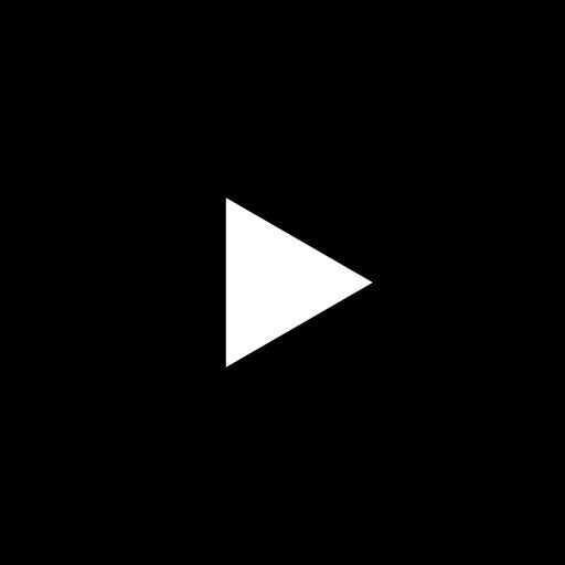 Icône Youtube noir