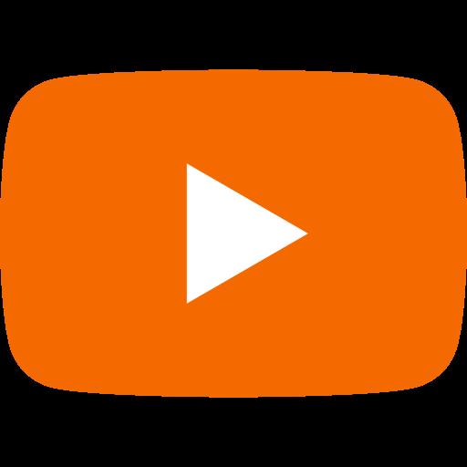 Icône Youtube orange