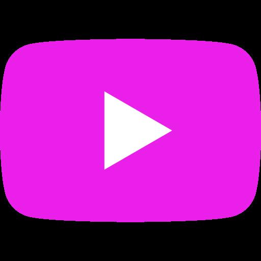 Icône YouTube rose