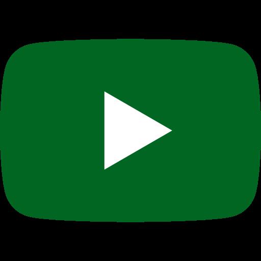 Icône YouTube verte
