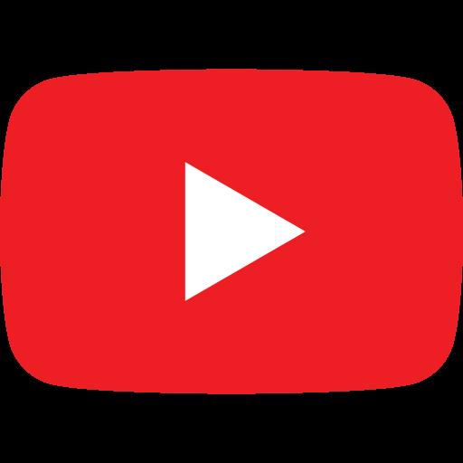 Icône du logo Youtube PNG fond transparent
