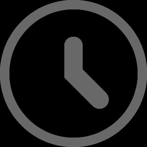 Icône d'horloge grise (symbole png)