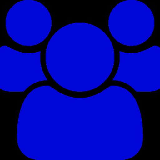 Icône de groupe bleu (symbole PNG)