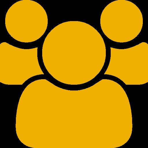 Icône de groupe jaune (symbole PNG)