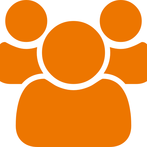 Icône de groupe orange (symbole PNG)