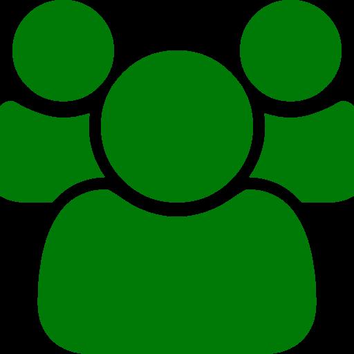 Icône de groupe vert (symbole PNG)