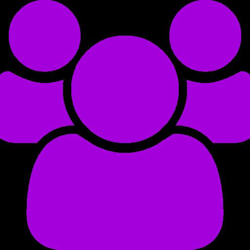 Icône de groupe violet (symbole PNG)