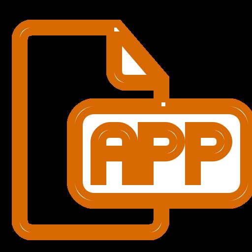Icône d'application orange