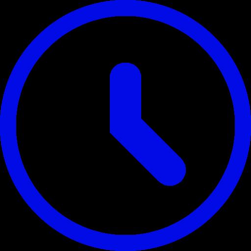 Icône de l'horloge bleue (symbole png)