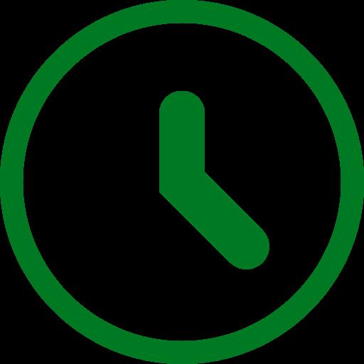 Icône d'horloge verte (symbole png)