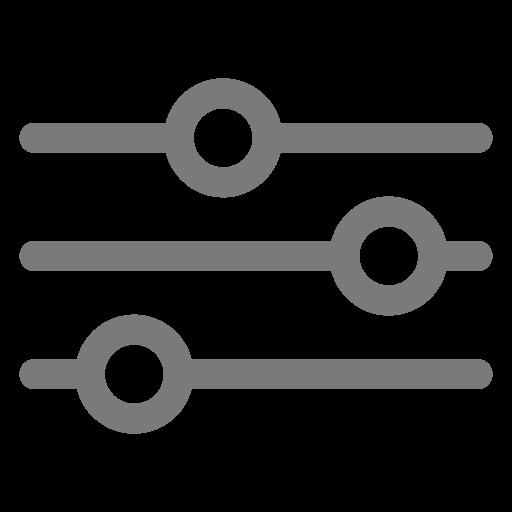 Icône des paramètres et des paramètres gris