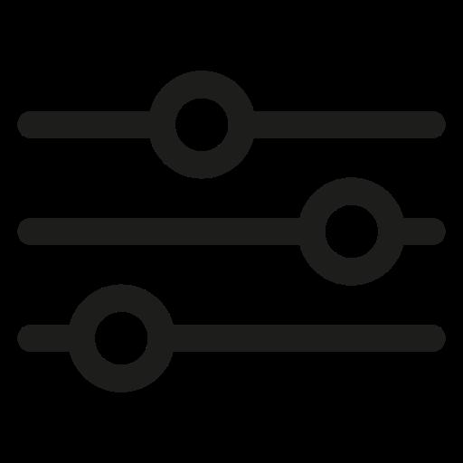 Icône de paramètres et de paramètres noire