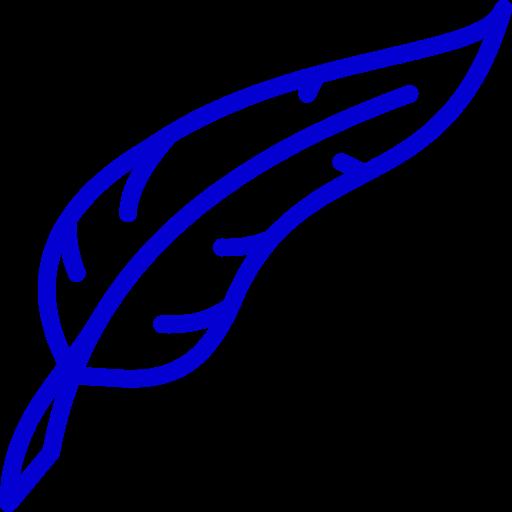 Icône de plume bleue