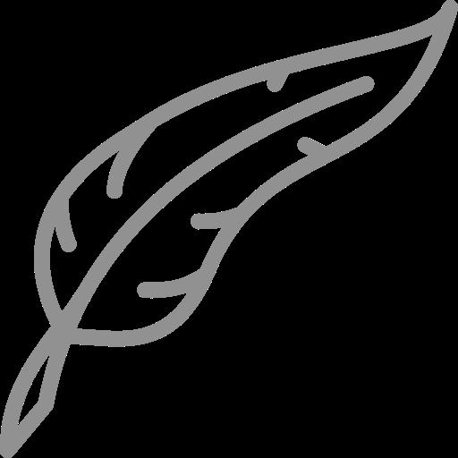 Icône de plume grise