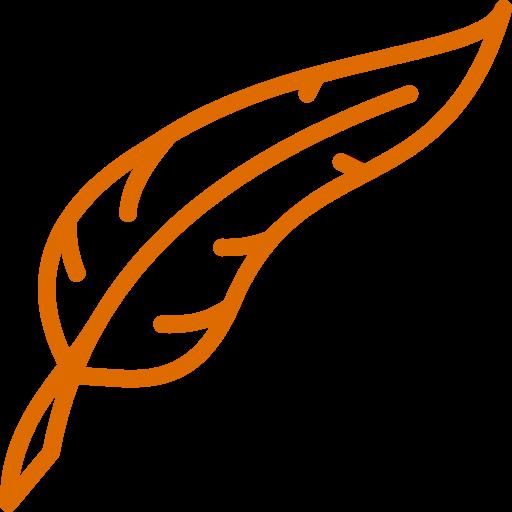 Icône de plume orange