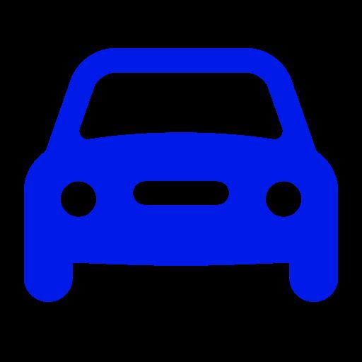 Icône de voiture bleue (symbole png)
