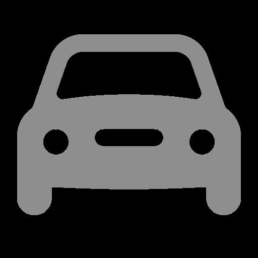 Icône de voiture grise (symbole png)