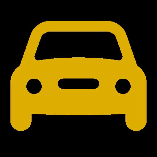 Icône de voiture jaune (symbole png)