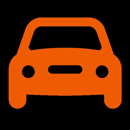 Icône de voiture orange (symbole png)
