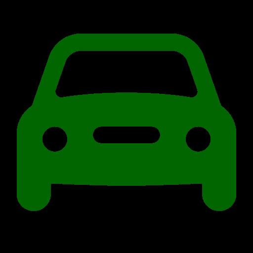 Icône de voiture verte (symbole png)