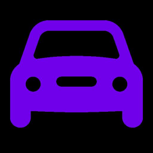 Icône de voiture violette (symbole png)