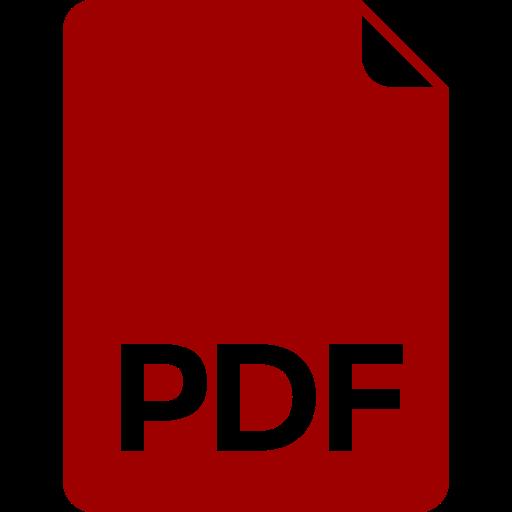 Ícone de PDF vermelho (símbolo PNG)