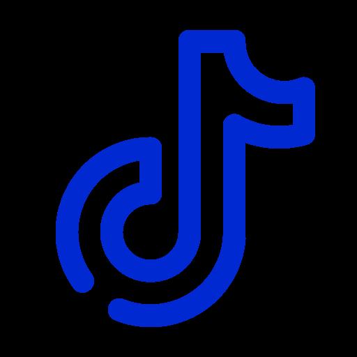 Logo Tiktok bleu (icône png)