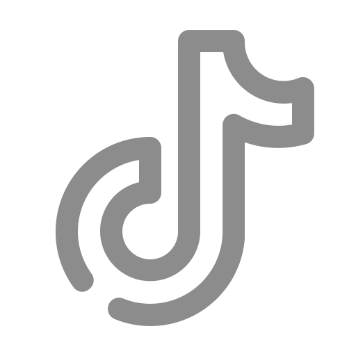 Logo Tiktok gris (icône png)