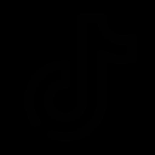 Logo Tiktok (icône png) noir