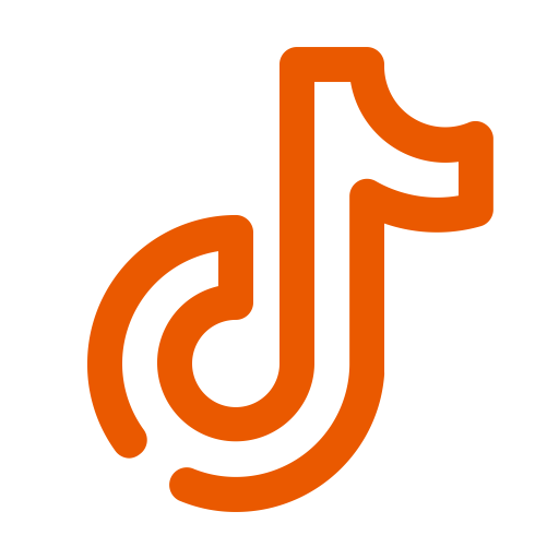 Logo Tiktok orange (icône png)